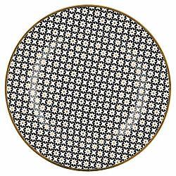 Talíř z kostního porcelánu s černým vzorem Green Gate Dot, ⌀20,5cm