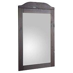 Tmavě hnědé nástěnné zrcadlo z masivního borovicového dřeva Støraa Fiona