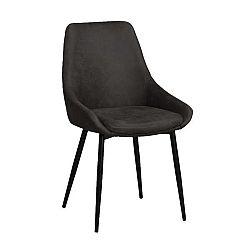 Tmavě nědá polstrovaná jídelní židle Rowico Sierra