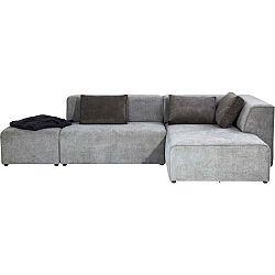 Tmavě šedá pohovka s podnožkou Kare Design Infinity