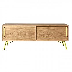 TV stolek se žlutými nohami Woodman Ashburn
