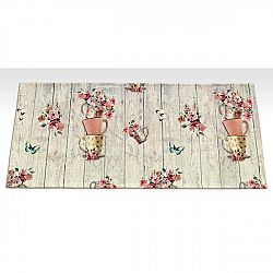 Vysoce odolný kuchyňský koberec Floorita French Garden,60 x 115cm