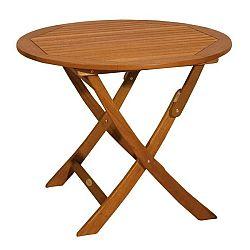 Zahradní skládací stůl z eukalyptového dřeva ADDU Stockholm, ⌀90cm
