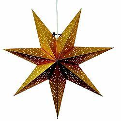 Závěsná svítící hvězda Best Season Dot Gold, 54 cm