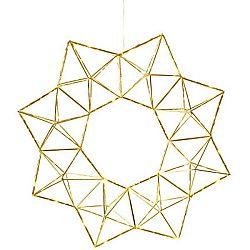 Závěsná svítící LED dekorace Best Season Polygon Brass, ⌀ 40 cm