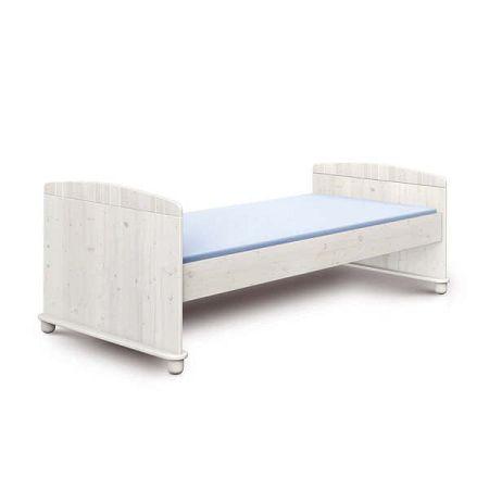 Bílá dětská postel z borovicového dřeva Faktum Tomi,90x200cm