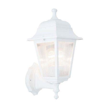Bílé nástěnné svítidlo Lampas