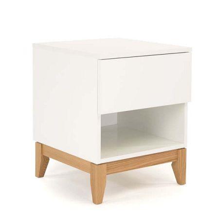 Bílý odkládací stolek Woodman Blanco