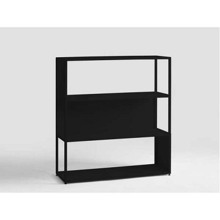 Černá knihovna Custom Form Hyller Side, výška110cm