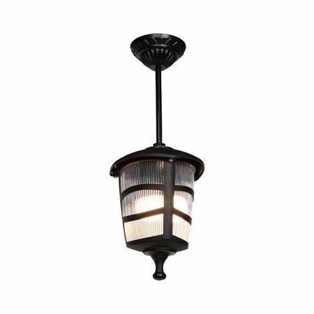 Černé venkovní závěsné svítidlo Luxury