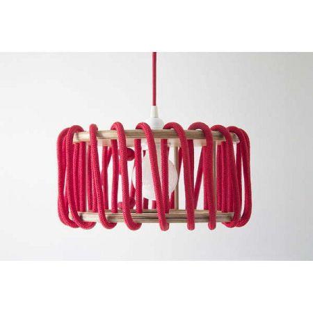 Červené stropní svítidlo EMKO Macaron, ø 45 cm