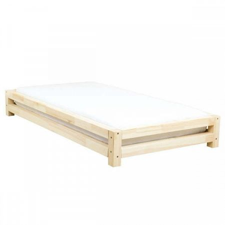 Dětská postel zlakovaného smrkového dřeva Benlemi JAPA, 90x180cm