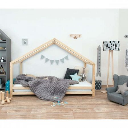 Dětská postel z lakovaného smrkového dřeva Benlemi Sidy, 90 x 160 cm