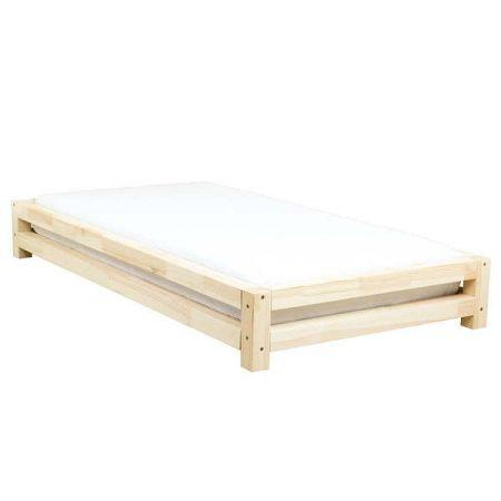 Dětská postel zesmrkového dřeva Benlemi JAPA Natural, 120x160cm