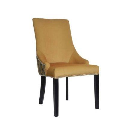 Hořčicová jídelní židle JohnsonStyle Melody Wood