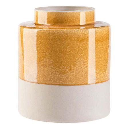 Krémovo-žlutá váza Vox Hola, výška25,5cm