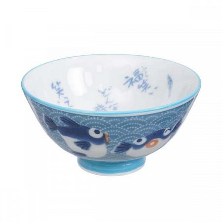 Modrá miska Tokyo Design Studio Fish, ø11,2cm