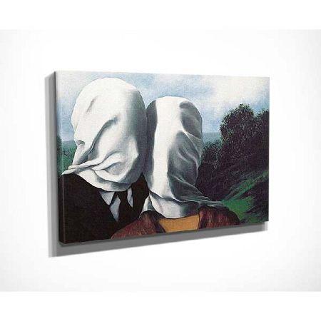 Nástěnná reprodukce na plátně Rene Magritte The Surrealist Love and Bizarre Romance, 40 x 30 cm