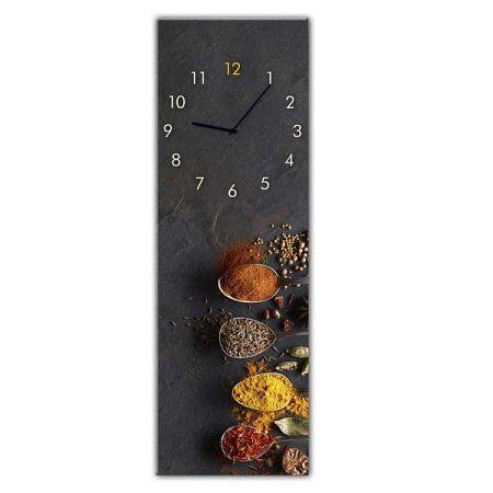 Nástěnné hodiny Styler Glassclock Spices, 20 x 60 cm