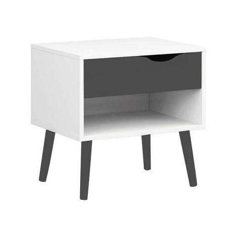 Noční stolek s černými detaily Evergreen House Delta