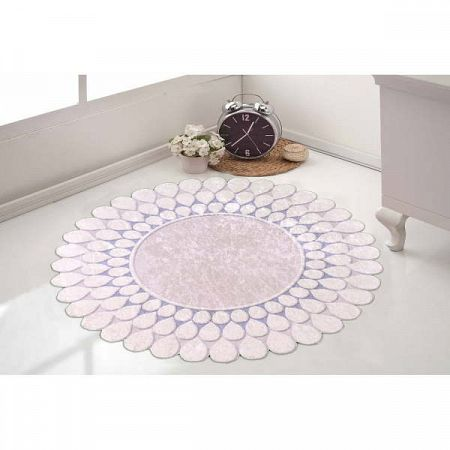 Odolný koberec Vitaus Zinno Mavi, ⌀ 80 cm