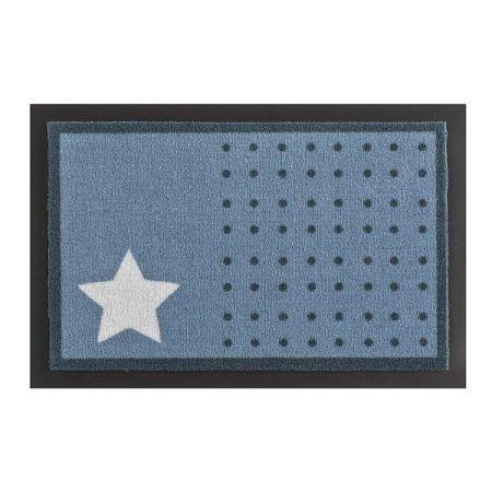 Rohožka Hanse Home Star and Dots Light Blue, 40 x 60 cm