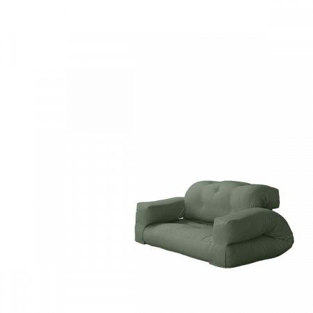 Rozkládací křeslo se zeleným potahem Karup Design Hippo Olive Green