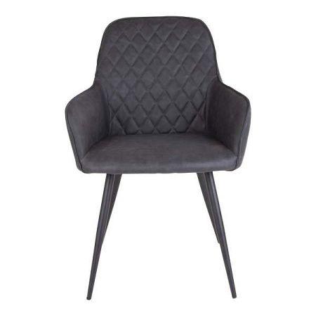 Sada 2 tmavě šedých jídelních židlí House Nordic Harbo