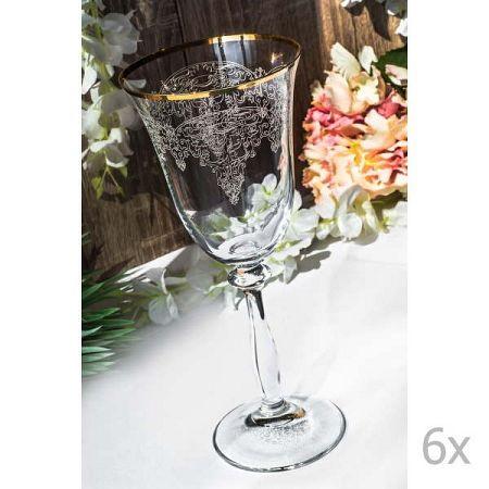 Sada 6 skleněných skleniček Stamatia, 250 ml