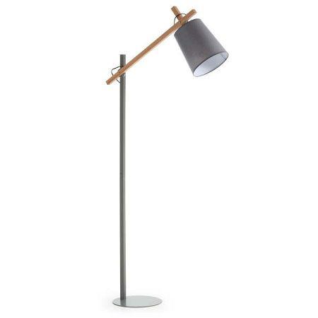Šedá stojací lampa La Forma Jovik