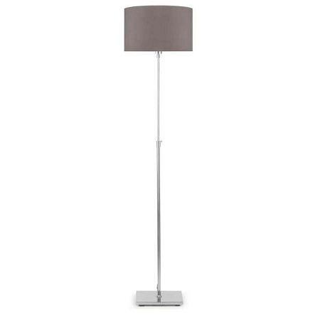 Šedá volně stojící lampa se šedým stínidlem Citylights Bonn