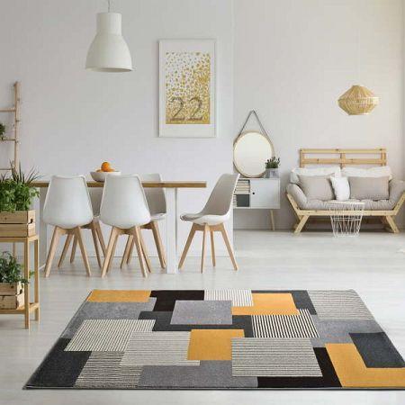 Šedý koberec Universal Leo Square, 80 x 150 cm