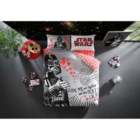 Set bavlněného povlečení na dvoulůžko s prostěradlem Lovely Darth Licensed, 200x220cm