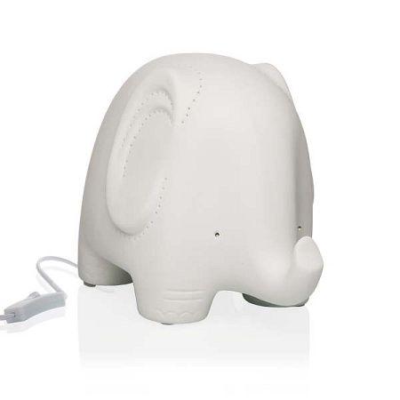 Stolní porcelánová lampa ve tvaru slona Versa