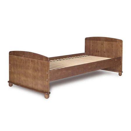 Tmavě hnědá dětská postel z borovicového dřeva Faktum Tomi,90x200cm