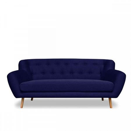Tmavě modrá pohovka pro tři Cosmopolitan design London