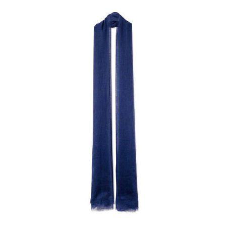 Tmavě modrá tenká kašmírová šála Bel cashmere Mila, 240x110cm