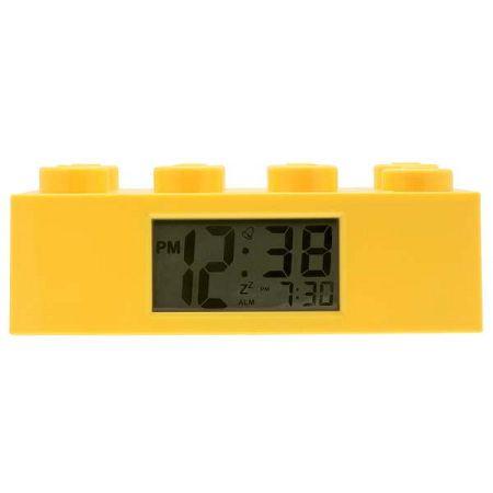 Žluté hodiny s budíkem LEGO® Brick